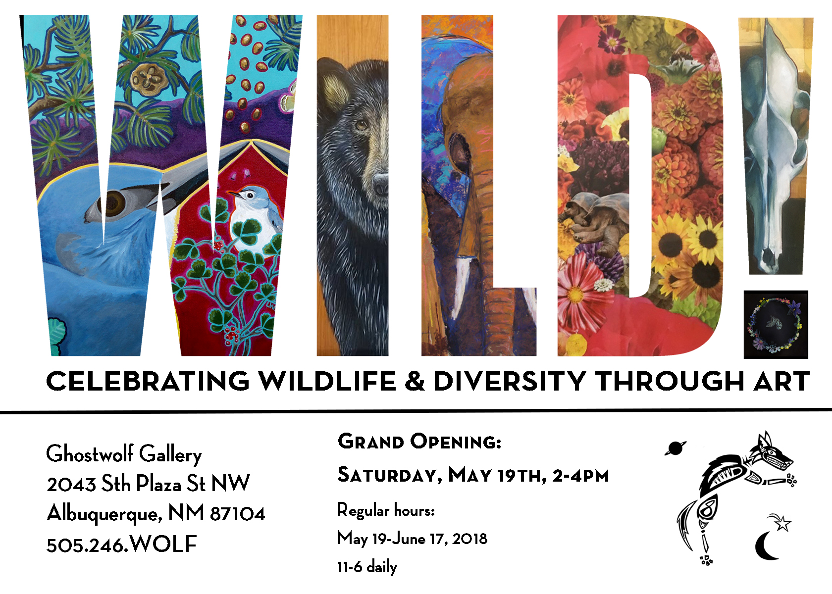 Ghostwolf Gallery – WILD! Opening Reception