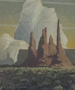 Painting of Navajo land