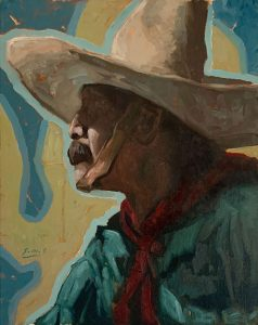 painting of a mexican cowboy