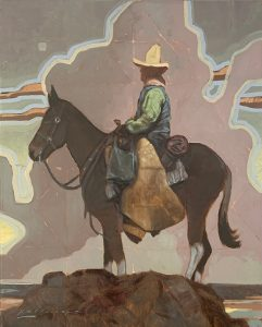 Paintings of Vaquero on Mule