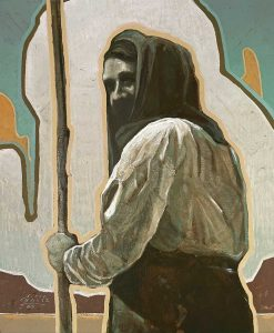 Painting of a Mexican peasant woman